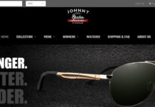 JohnnyShades Coupon Code Homepage