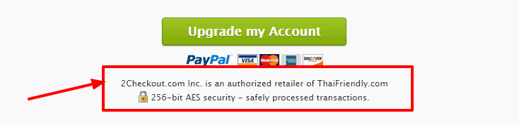 Secure account with AES security - thaifriendly safe