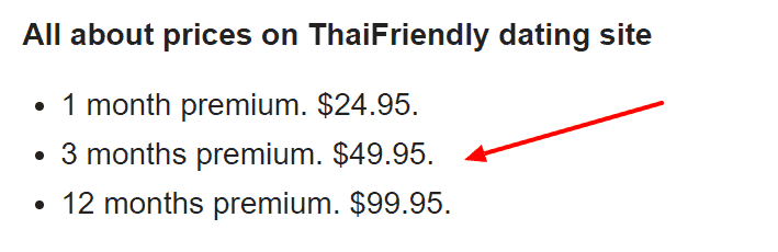 thaifriendly Review - pricing